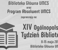 Ogólnopolski Tydzień Bibliotek na UMCS