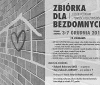 Zbiórka darów dla bezdomnych  - 3-7 grudnia 2018 r.