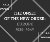 """Konferencja: """"The Onset of the New Order: Europe 1939-1940"""""""