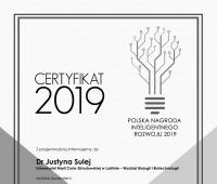 """""""Naukowiec Przyszłości"""" - dr Justyna Sulej laureatką nagrody"""