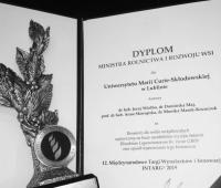 Statuetka Ministra Rolnictwa i Rozwoju Wsi oraz srebrny...