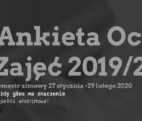Ankieta Oceny Zajęć – semestr zimowy 2019/2020