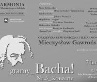 "ZAPROSZENIE NA KONCERT ""Gramy Bacha"""