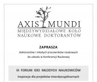 Zaproszenie na III FORUM IDEI MŁODYCH NAUKOWCÓW.