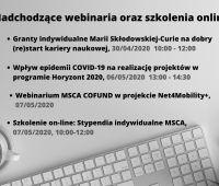 Szkolenia online związane z programem Horyzont 2020