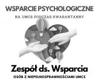 Wsparcie psychologiczne na UMCS w czasie epidemii