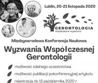 """Konferencja """"Wyzwania współczesnej gerontologii"""""""