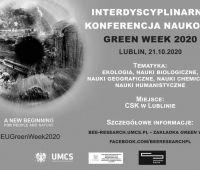 Zaproszenie na Konferencję Naukową Green Week 2020