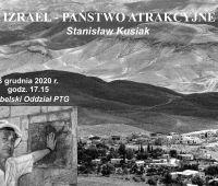 """""""Izrael – państwo atrakcyjne""""- odczyt PTG (online)"""