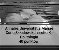 "Sukces czasopisma ""Annales UMCS, sectio K -..."