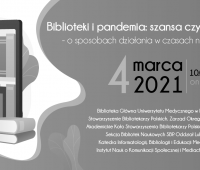 "Konferencja ""Biblioteki i pandemia"" 04.03.2021 r."