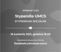 Webinar Stypendia UMCS - stypendium socjalne