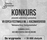 """Konkurs VII edycji Festiwalu """"Metamorfozy Sentymentalne"""""""