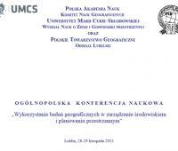 """Konferencja """"Wykorzystanie badań geograficznych w..."""