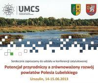 Konferencja 'Potencjał przyrodniczy a zrównoważony...