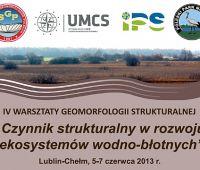 IV Warsztaty Geomorfologii Strukturalnej - 'Czynnik...