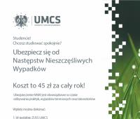 Ubezpieczenie NNW w roku akademickim 2015/2016