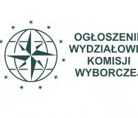 Ogłoszenie Wydziałowej Komisji Wyborczej