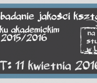 Badanie Jakości Kształcenia 2015/2016