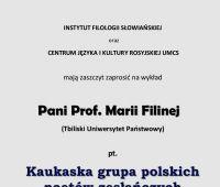Wykład otwarty: Kaukaska grupa polskich poetów zesłańczych