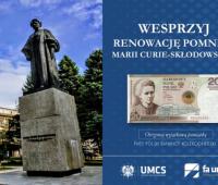 Wesprzyj renowację pomnika Marii Curie-Skłodowskiej!