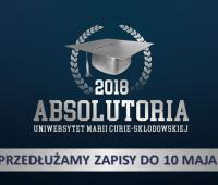 Absolutoria 2018 – zapisy przedłużone do 10 maja