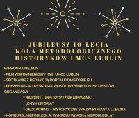 Jubileusz 10-lecia Koła Metodologicznego Historyków UMCS