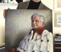 A portrait of Professor Wiesław Andrzej Kamiński, Rector...