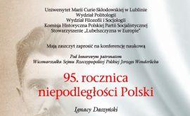 95. rocznica niepodległości Polski. Ignacy Daszyński....