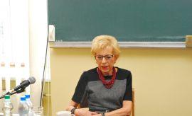 Janina Paradowska na Wydziale Politologii