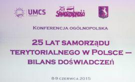 25 lat samorządu terytorialnego w Polsce – bilans...