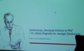 """""""Recepcja Kultury w PRL"""" – konferencja naukowa."""