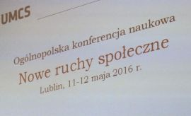 Nowe ruchy społeczne - konferencja naukowa