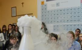 Pokazy chemiczne dla szkół partnerskich