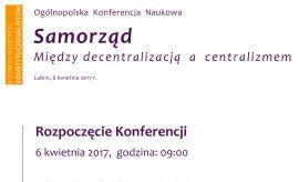 Samorząd. Między decentralizacją a centralizmem