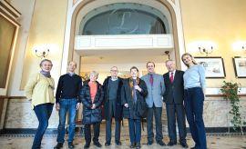 Pożegnanie delegacji z Paryża przez władze UMCS