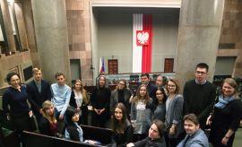 Wizyta studentów w Sejmie Rzeczypospolitej Polskiej