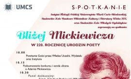 """Spotkanie """"Bliżej Mickiewicza"""""""