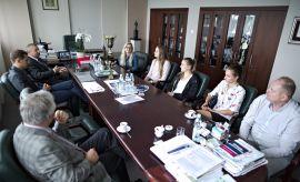 Spotkanie Rektora ze szczypiornistkami - mistrzyniami AMP...