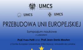 """Sympozjum Międzynarodowe """"Przebudowa Unii..."""
