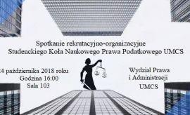 Spotkanie rekrutacyjno-organizacyjne