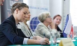 """Konferencja """"Równouprawnienie kobiet w Polsce. Między..."""