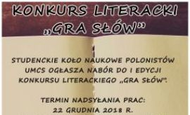 "Konkurs literacki ""Gra słów"""