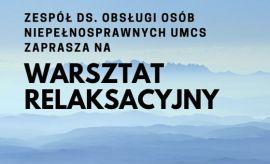Warsztaty relaksacyjne dla pracowników (24.05.)