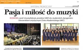 """Chór Akademicki UMCS na łamach """"Dziennika..."""