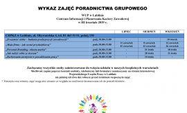 WUP Lublin - CIiPKZ - wykaz zajęć w III kwartale 2019 r.