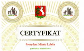 """Certyfikat uczestnictwa w Programie """"Rodzina Trzy..."""