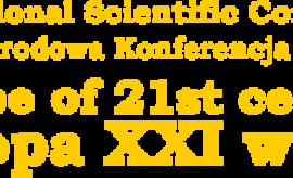 """Międzynarodowa Konferencja Naukowa """"Europa w XXI..."""