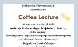 Coffee Lecture PLUS koncert jazzowy 23.01.2020 r.