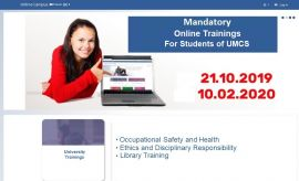 Mandatory Online Trainings for I Year Students